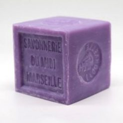 Lavender Savon de Marseille Soap Cube Side