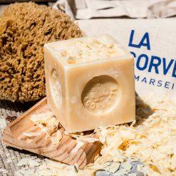 Natural Savon de Marseille Soap Cube Shaved