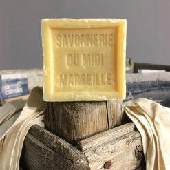 Natural Savon de Marseille Soap Cube on Post