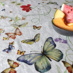 Italian Linen Tablecloth Papillon