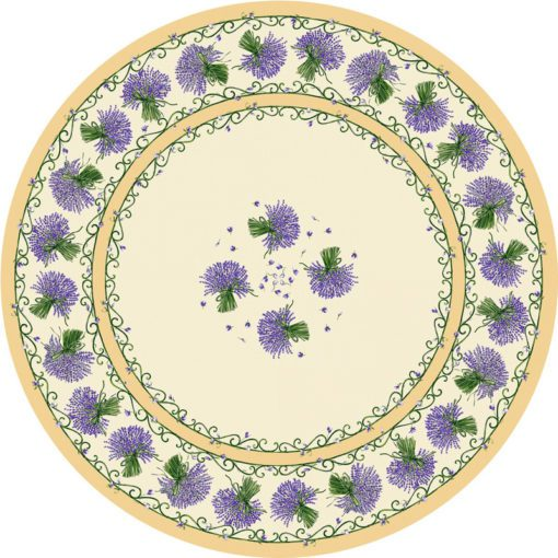 Bouquet de Lavande Ecru Round Pattern