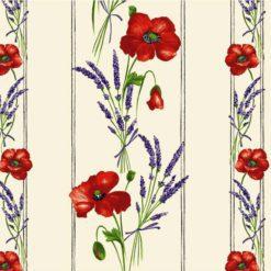COQUELICOT LAVANDE Fabric