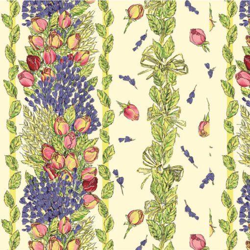Rose et Lavande Fabric