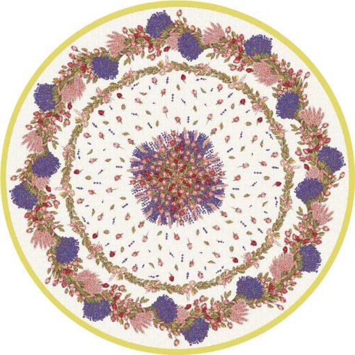 Rose et Lavande Round Pattern