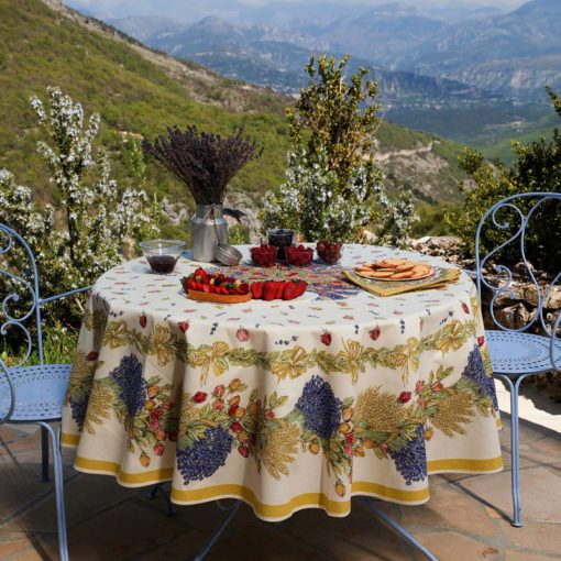 Rose et Lavande Round Tablecloth