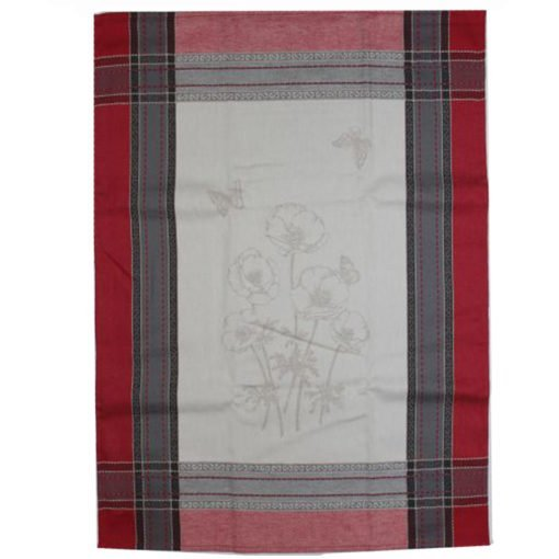 Tea Towel Red Poppies