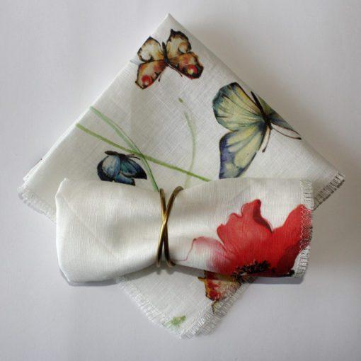 Papillon linen napkins