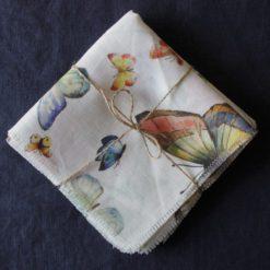 Butterfly Napkin on Blue