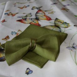 Green Napkin on Butterfly