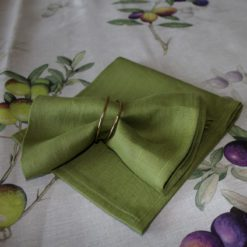 Green Napkin on Olive