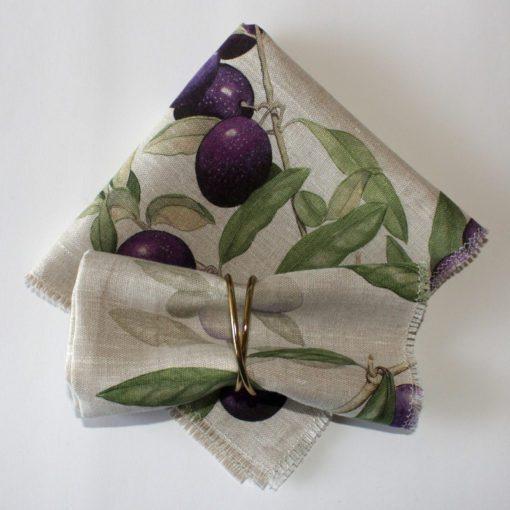 Olives Linen Napkins