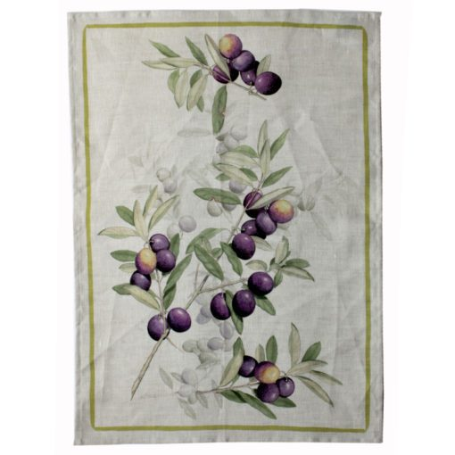 Tea Towel Purple Olives
