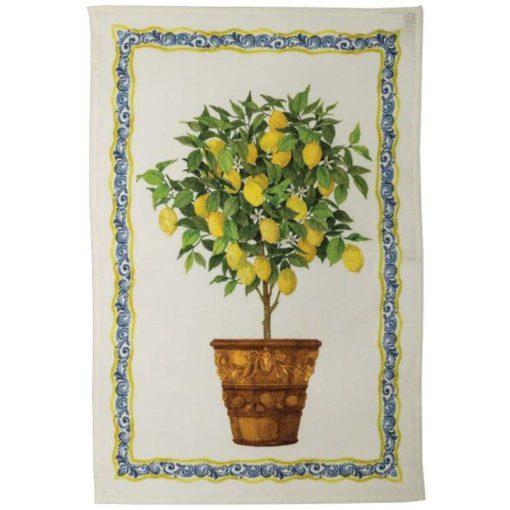 Linen Tea Towel Lemons