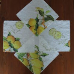 Lemon Linen Napkin Display