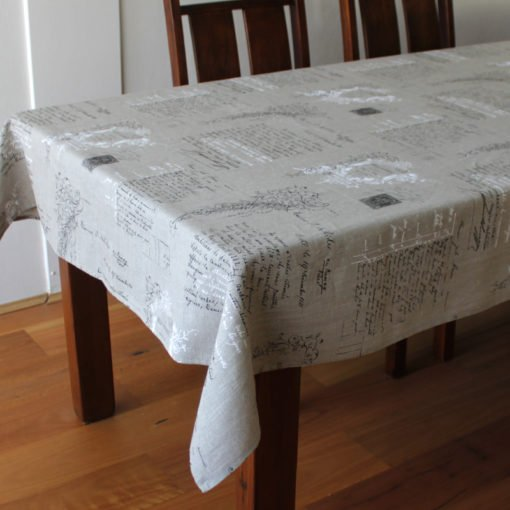 Manuscript French Linen Tablecloth