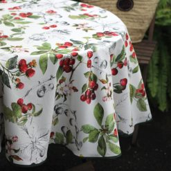 Cherry Round Tablecloth