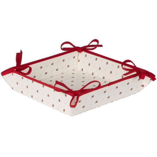 Bread Basket Calisson Ecru Rouge