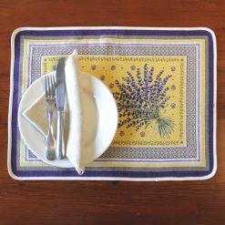 Castillon Jaune French Placemat Setting