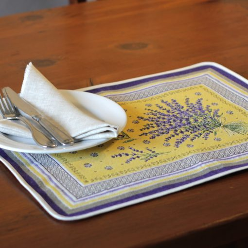 Castillon Jaune French Placemat Table Setting