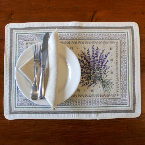 Castillon Lavande French Placemat Table Setting