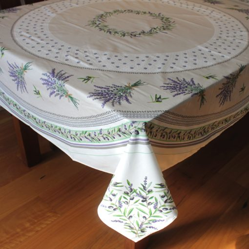 Lauris Square French Tablecloth Side