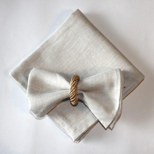 Natural Italian Linen Napkin Set