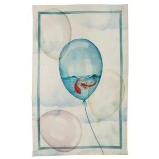 Italian linen balloons tea towel