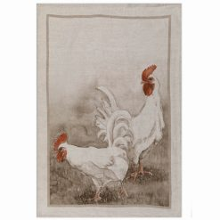 Italian Linen Tea Towel Chickens