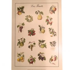 Les Fruits vintage poster