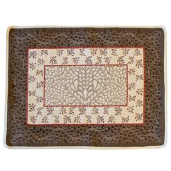 Aubrac Taupe Rouge French Placemat