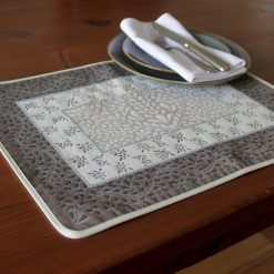 Aubrac Taupe Bleu French Placemat