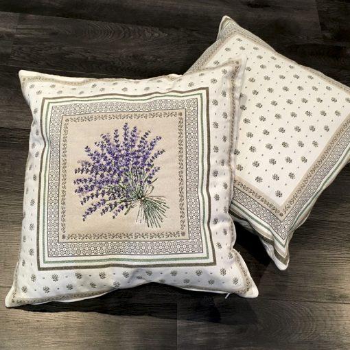 Cushion Cover Castillon Lavande Double