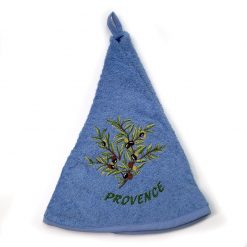French Hand Towel Blue Provence Olives