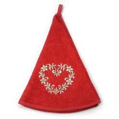 French Hand Towel Red Heart