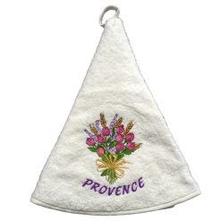 French Hand Towel White Rose et Lavande