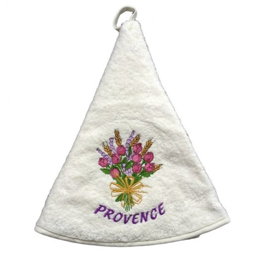 French Hand Towel White Rose et Lavande