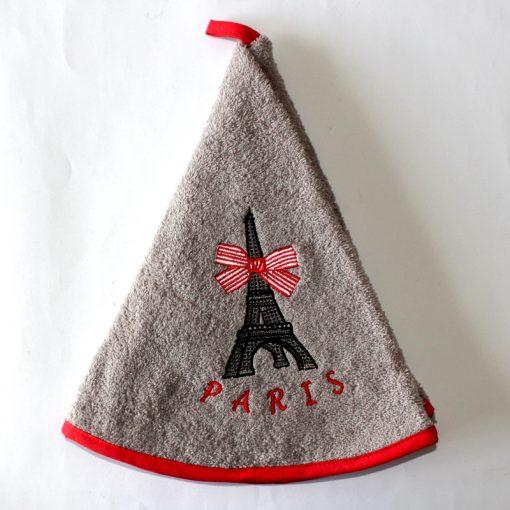 French hand Towel Grey Eiffel Tower