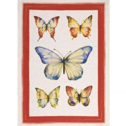 Tea Towel Papillon Red