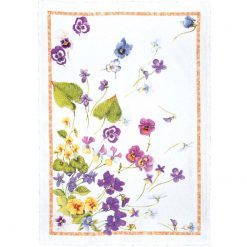Tea Towel Pansies