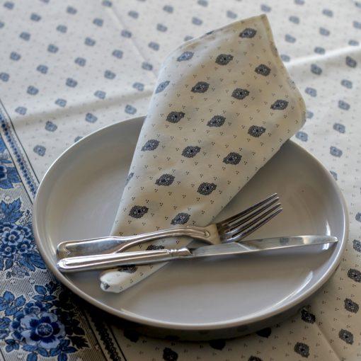 Bastide Blanc Bleu Napkin Corne