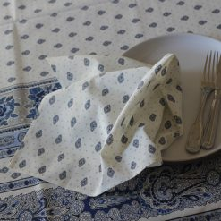 Bastide Blanc Bleu Napkin Open