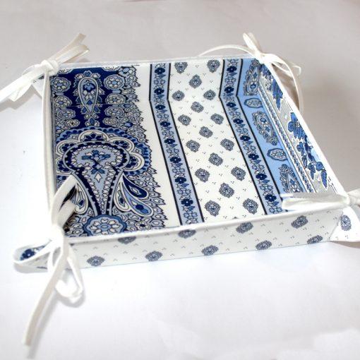 Bread Basket Bastide Bleu Blanc Side