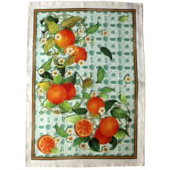 Tea Towel Tiles Oranges