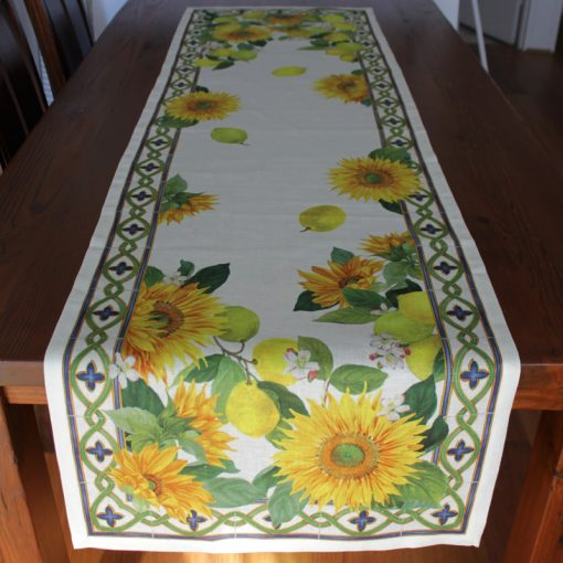 Linen Runner Sunflowers Front 2