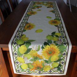Linen Runner Sunflowers Front
