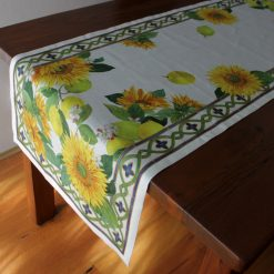 Linen Runner Sunflowers Side