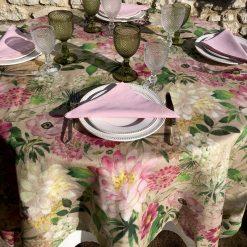 La Vie En Rose Round Tablecloth