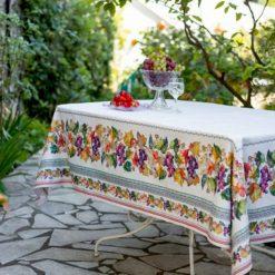 Grapes Rectangle Tablecloth Display