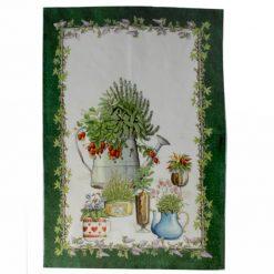 Green Balcony Garden Tea Towel
