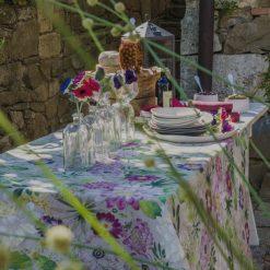 La Vie En Rose Italian Tablecloth